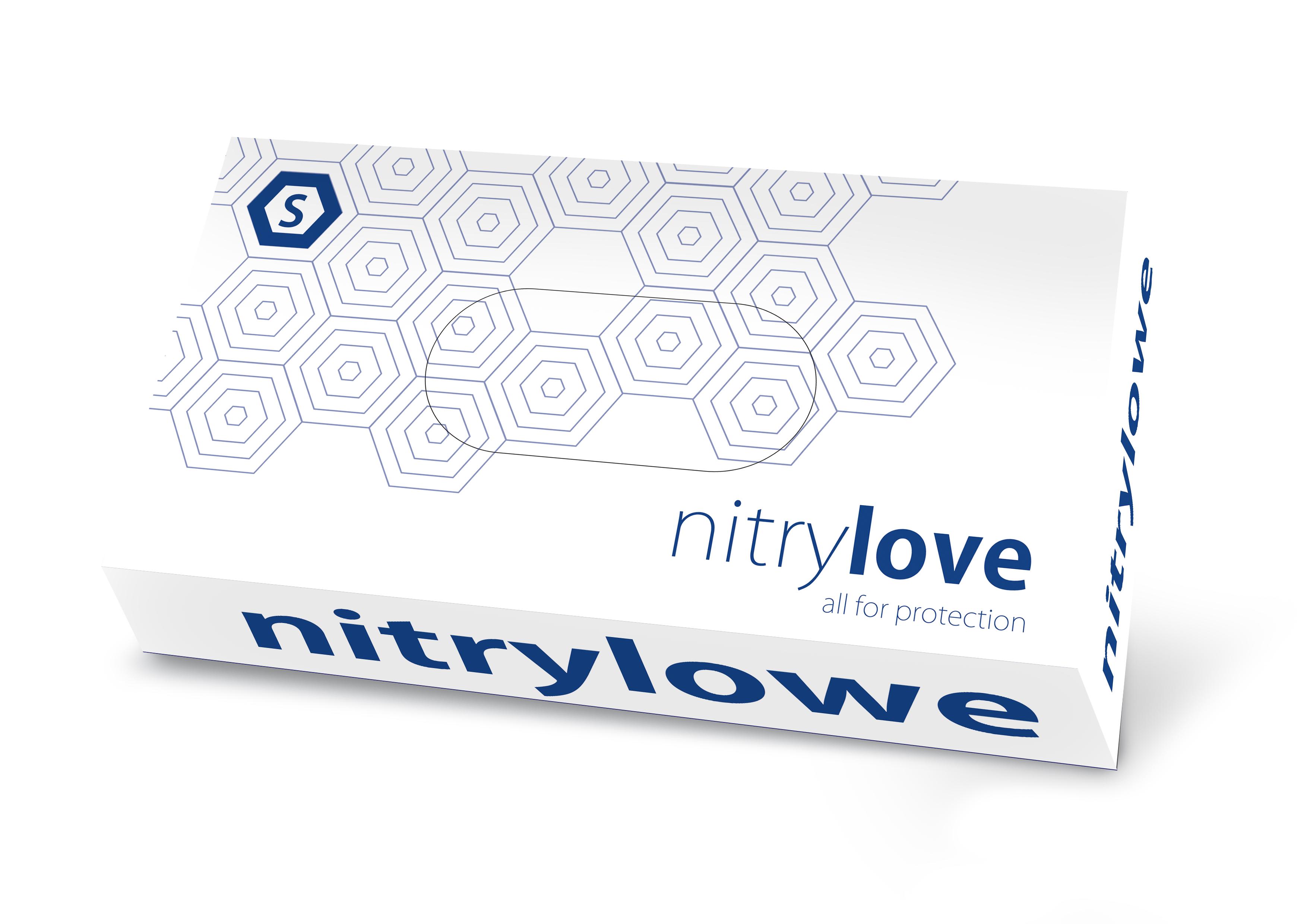"""Rękawice nitrylowe """"NitryLove"""" niebieskie"""