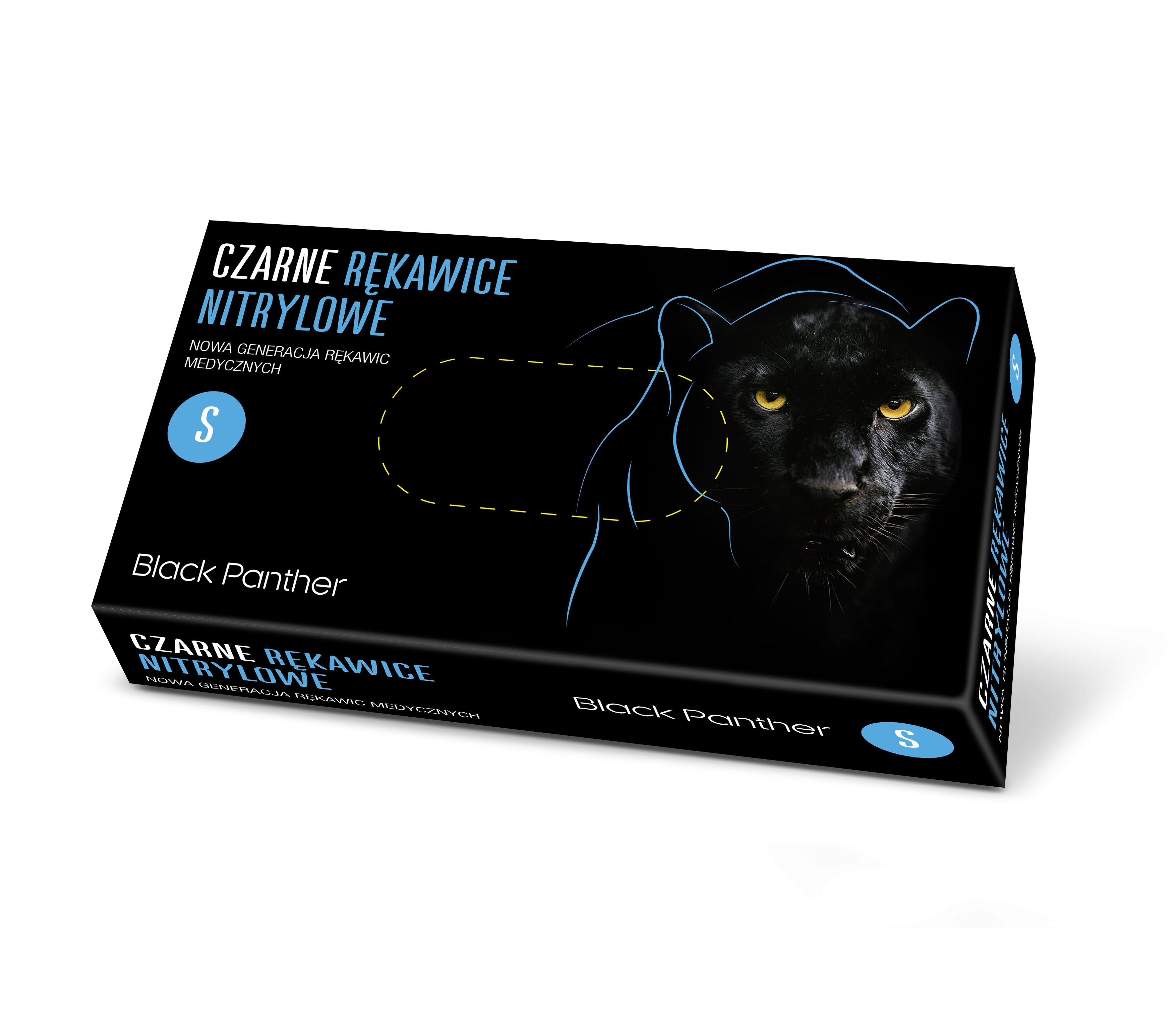 Rękawice nitrylowe czarne Black Panther