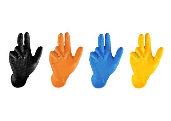 Antypoślizgowe Rękawice Nitrylowe Grippaz